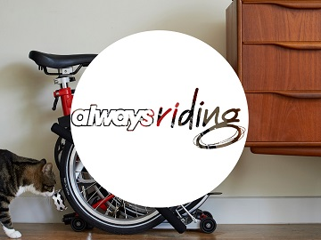 folding bike always riding logo